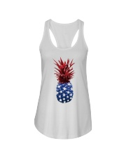 Great idea for 4th of July Ladies Flowy Tank front