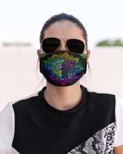 I AM THE STORM Cloth face mask aos-face-mask-lifestyle-02