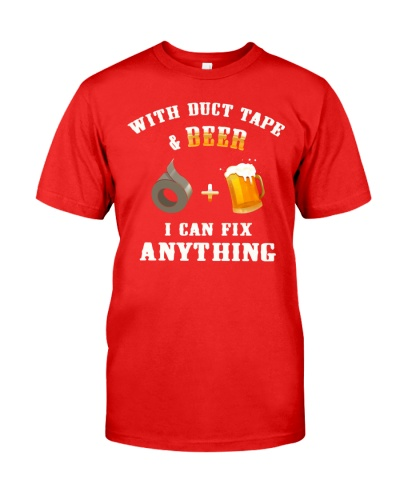 DUCK TAPE AND BEER T-SHIRT