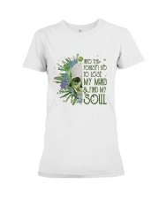 INTO THE FOREST SKULL  Premium Fit Ladies Tee thumbnail
