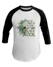 INTO THE FOREST SKULL  Baseball Tee thumbnail