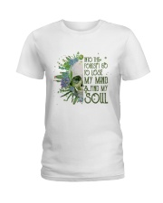 INTO THE FOREST SKULL  Ladies T-Shirt thumbnail