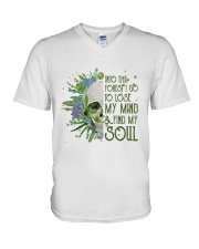 INTO THE FOREST SKULL  V-Neck T-Shirt thumbnail