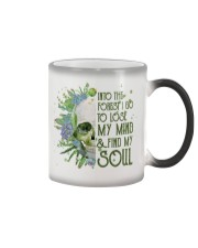 INTO THE FOREST SKULL  Color Changing Mug thumbnail