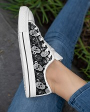 SUGAR SKULL 1 Women's Low Top White Shoes aos-complex-women-white-low-shoes-lifestyle-03