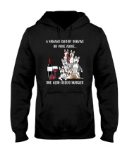 CANNOT SURVIVE ON WINE BUT ALSO NEEDS HUSKIES Hooded Sweatshirt thumbnail
