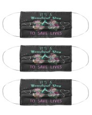 It's A Beautiful Day To Save Lives RP Cloth Face Mask - 3 Pack front