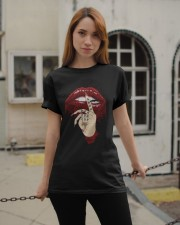 Tattoo dripping lips Classic T-Shirt apparel-classic-tshirt-lifestyle-19