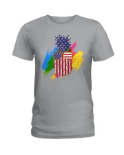 Perfect shirt for Independence Day - Pinapple Ladies T-Shirt thumbnail