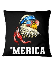 BALD EAGLE - INDEPENDENCE DAY Square Pillowcase thumbnail
