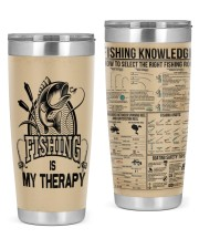 FISHING IS MY THERAPY 20oz Tumbler front