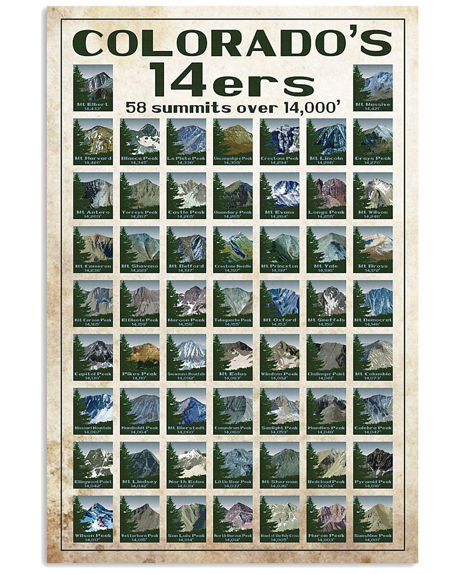 Colorado's 14ers 16x24 Poster