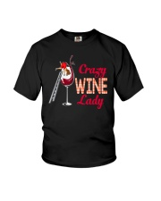 CRAZY WINE LADY Youth T-Shirt thumbnail
