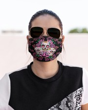 La Catrina Skull 3 Cloth face mask aos-face-mask-lifestyle-02