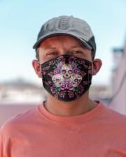 La Catrina Skull 3 Cloth face mask aos-face-mask-lifestyle-06