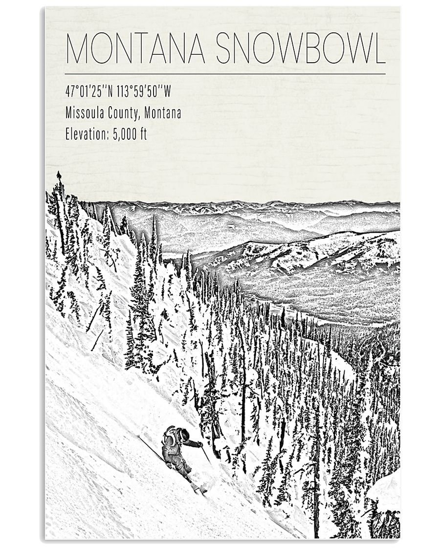MONTANA SNOW BOWL POSTER 16x24 Poster
