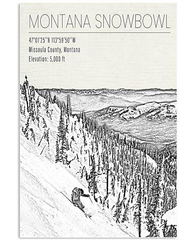 MONTANA SNOW BOWL POSTER