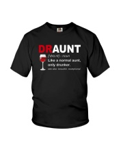 DRAUNT - NORMAL AUNT ONLY DRUNKER Youth T-Shirt thumbnail