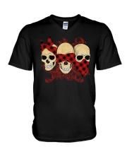 THREE SKULLS V-Neck T-Shirt thumbnail