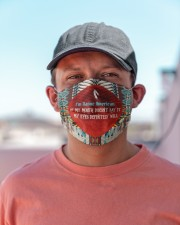 I'm Native American My Eyes Definitely Say It Cloth face mask aos-face-mask-lifestyle-06
