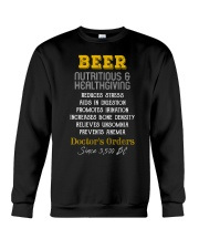 BEER NUTRITIOUS AND HEALTHGIVING Crewneck Sweatshirt tile