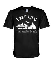 LAKE LIFE 'CUZ BEACHES BE SALTY V-Neck T-Shirt thumbnail