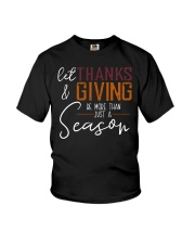 LET THANKS AND GIVING Youth T-Shirt thumbnail
