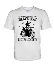 BLACK HAT RIDING SOCIETY V-Neck T-Shirt tile
