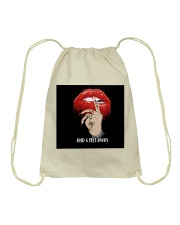 6 FEET AWAY Drawstring Bag thumbnail