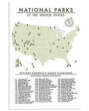 NATIONAL PARKS CHECKLIST 24x36 Poster front