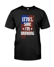 1776 PERCENT DRINKING Classic T-Shirt front