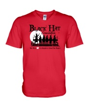 BLACK HAT CONVENTION WE WILL NOT FLY SILENTLY V-Neck T-Shirt thumbnail