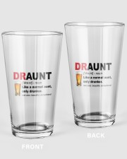 DRAUNT 16oz Pint Glass front