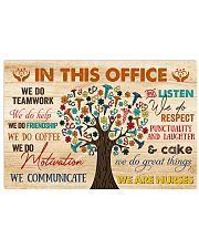 IN THIS OFFICE WE ARE NURSES 17x11 Poster front