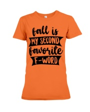FALL SECOND WORD Premium Fit Ladies Tee front