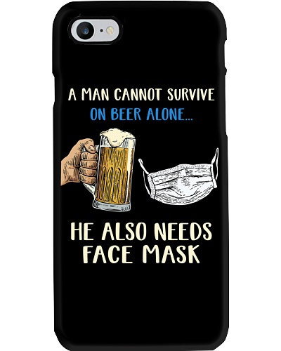 He also needs face mask