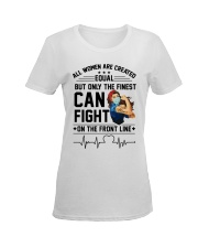 FIGHT ON THE FRONT LINE Ladies T-Shirt women-premium-crewneck-shirt-front