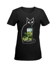 CAIPIRINHA COCKTAIL CAT Ladies T-Shirt women-premium-crewneck-shirt-front