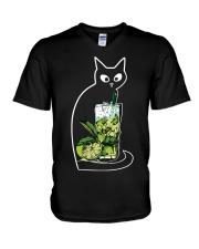 CAIPIRINHA COCKTAIL CAT V-Neck T-Shirt thumbnail