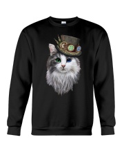 CAT WITH HAT Crewneck Sweatshirt thumbnail
