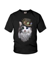 CAT WITH HAT Youth T-Shirt thumbnail