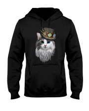 CAT WITH HAT Hooded Sweatshirt thumbnail