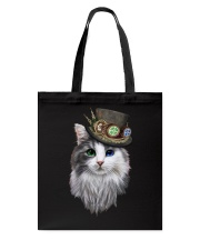 CAT WITH HAT Tote Bag thumbnail