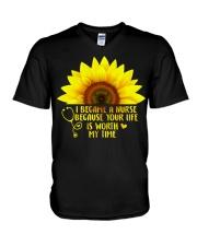 I became a nurse V-Neck T-Shirt thumbnail