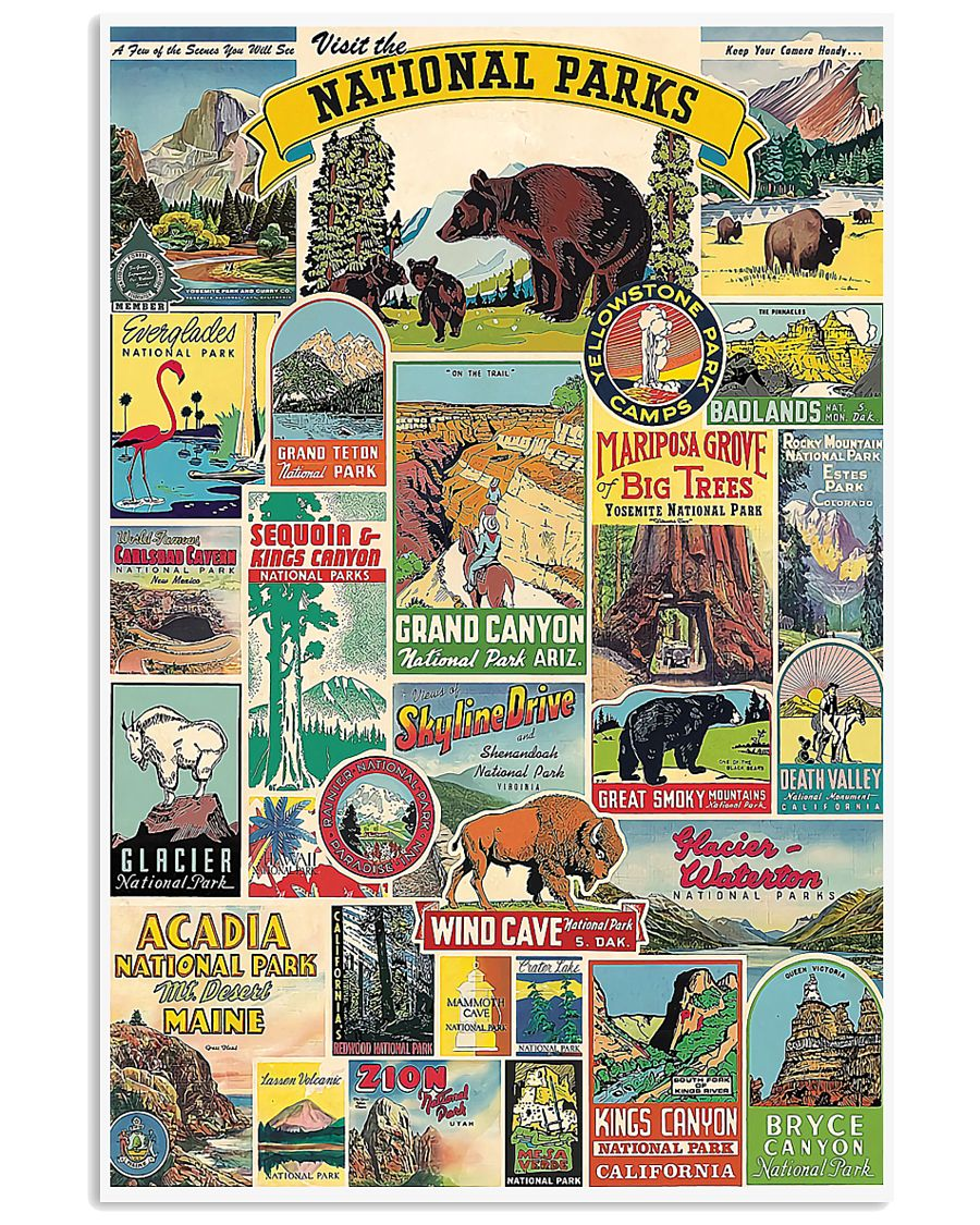 VISIT THE NATIONAL PARKS 16x24 Poster