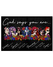 SKULL GOD SAYS YOU ARE 24x16 Poster front