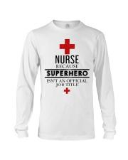 SUPERHERO TITLE NURSE Long Sleeve Tee thumbnail
