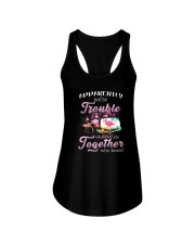 WE'RE TROUBLE WHEN WE ARE TOGETHER Ladies Flowy Tank thumbnail