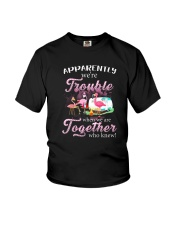 WE'RE TROUBLE WHEN WE ARE TOGETHER Youth T-Shirt thumbnail
