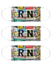 RN Number Plate Cloth Face Mask - 3 Pack front